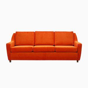 Orange Three-Seater Lounge Sofa, 1970s