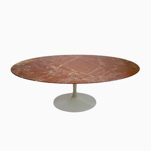Table de Salle à Manger en Mabre Ovale par Eero Saarinen pour Knoll, 1970s