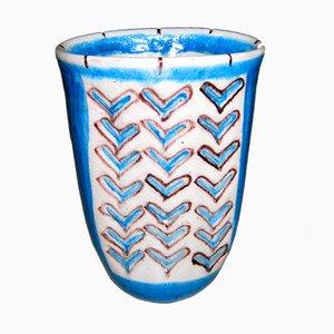 Vase par Guido Gambone pour Gambone Keramik, 1950s