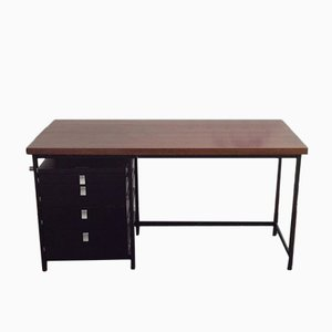 Desk with Solid Wenge Top by Jules Wabbes for Mobilier Universel, 1959