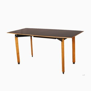 Mid-Century Black Dining Table by Ignazio Gardella, 1955
