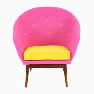 Austrian Pink & Yellow Chair, 1950s