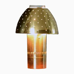 Perforated Brass Table Lamp from Hans Agne Jakobsson, 1960s