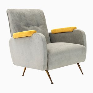 Italian Mid-Century Armchair with Contrast Armrests, 1950s