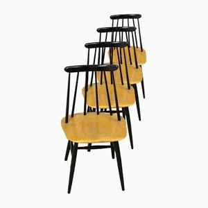 Mid-Century Fanett Stühle von Ilmari Tapiovaara für Edsby Verken, 4er Set