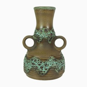 Brown & Green Fat Lava Vase from Dümler & Breiden, 1960s