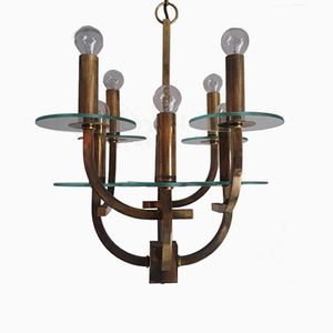 Mid-Century Chandelier with 8 Lights