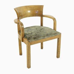 Wooden Art Deco Armchair, 1930s