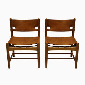 Modell 3237 Stühle von Borge Mogensen für Fredericia, 2er Set