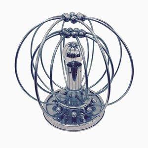 Space Age Lampe aus Chrom und Plastik, 1960er