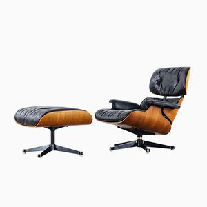 Rosewood Lounge Chair & Ottoman by Charles & Ray Eames for Herman Miller, 1975