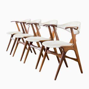 Cow Horn Stühle von Louis Van Teeffelen für Wébé, 1960er, 4er Set