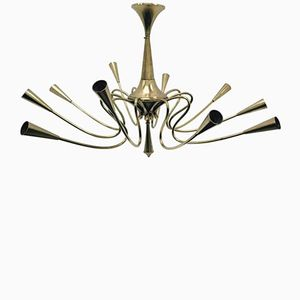Italian Chandelier by Oscar Torlasco, 1950s