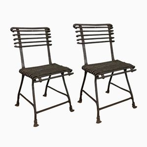 Antique French Wrought Iron Chairs from Arras, 1880s, Set of 2