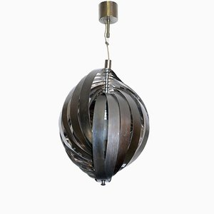 Mid-Century Italian Steel Chandelier from Stilnovo, 1960s