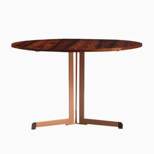 Vintage Italian Rosewood and Anodized Aluminium Dining Table