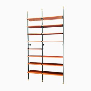 Wall Unit with Teak Shelves, 1960s