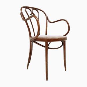Beistellstuhl aus gebogener Buche von Thonet, 1940er