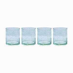 Bicchieri in vetro soffiato a mano di House Doctor, set di 4