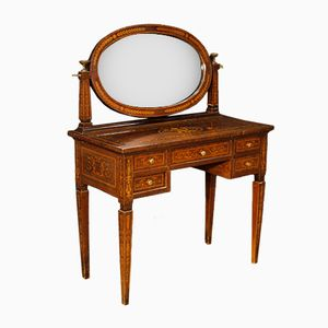 Italian Inlaid Dressing Table, 1950s