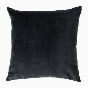 Large Grey Velvet Cushion from Ceraudo