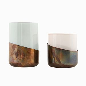 Copper Tealight Holders from House Doctor, Set of 2