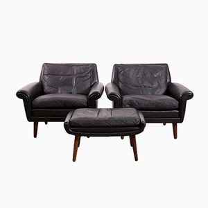 Diplomat Club Chairs & Ottoman by Aage Christiansen for Erhardsen & Andersen, 1965