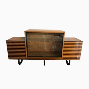 Italian Art Deco Sideboard in Walnut Burl, 1920s