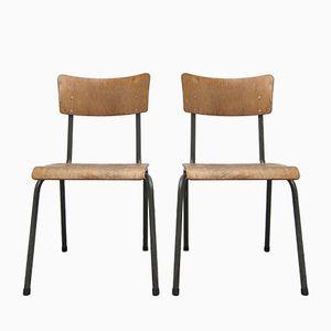 Belgian Industrial Chairs, 1960s, Set of 2