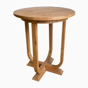 Art Deco Pine Side Table, 1930s