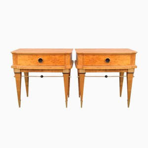 Tables de Chevet en Bouleau, France, 1960s, Set de 2