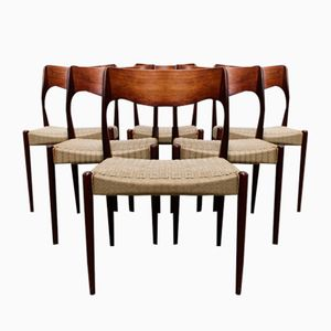 Mid-Century Danish Dining Chairs by Niels Otto Moller for J.L. Møllers, Set of 6