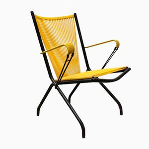 Foldable Mid-Century Scoubidou Lounge Chair by André Monpoix for Meubles TV