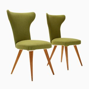 Italian Wingback Chairs, 1950s, Set of 2