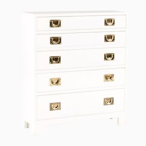 White Lacquered Chest of Drawers from Nordiska Kompaniet, 1960s