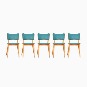 Vintage Cross -Framed Chairs by Max Bill for Horgen Glarus, Set of 5
