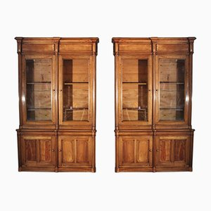 French Walnut Bookcases, 19th Century, Set of 2
