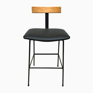 Program Industrial Lab Bar Stool by Frank Guille for Kandya, 1950s