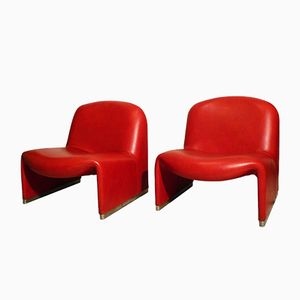 Mid-Century Italian Alki Lounge Chairs by Giancarlo Piretti for Castelli, 1960s