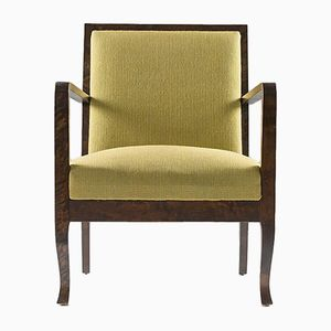 Art Deco Lounge Chair in Green