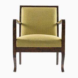 Art Deco Sessel in Grün