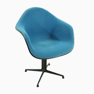 Blauer Vintage La Fonda Stuhl von Charles & Ray Eames für Vitra