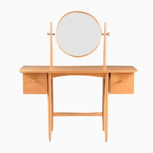 Swedish Vanity Table in Oak by Sven Engström & Gunnar Myrstrand for Bodafors, 1960s