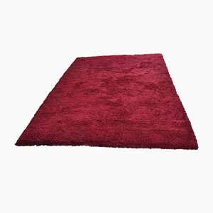 Vintage Hand-Made Red Wool Carpet from Tisca, 1980s
