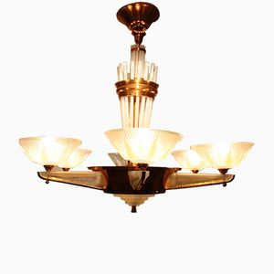 Art Deco French Chandelier from Petitot, 1930s