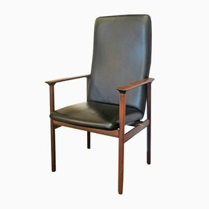 Danish Office Armchair in Rosewood, 1960s