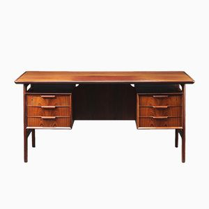 Model 75 Rosewood Desk by Gunni Omann for Oman Junn
