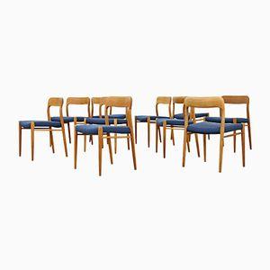 Model 65 Chairs by Niels O. Møller for J.L. Møllers, 1970s, Set of 10