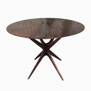 Table en Acajou par Osvaldo Borsani, Italie,1960s