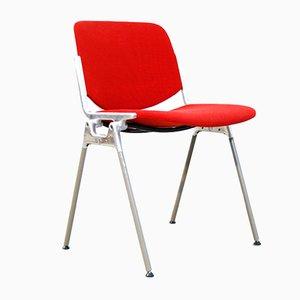 Rote Italienische Esszimmerstühle von Giancarlo Piretti für Castelli, 1980er